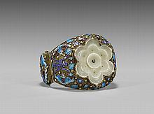 ENAMELED SILVER-GILT FILIGREE BRACELET