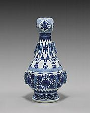 ANTIQUE BLUE & WHITE PORCELAIN VASE