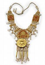 NECKLACE BY BARBARA WITT: Ancient 22K Gold & Quartz