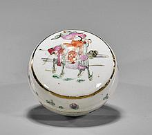 Antique Chinese Famille Rose Round Box