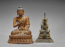 Two Southeast Asian Figures of Buddha