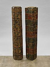 Pair Chinese Carved Stone Congs