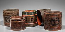 Four Old Southeast Asian Stacking Boxes