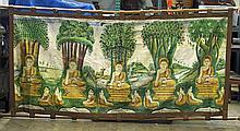Large Burmese Cotton Buddhist Panel