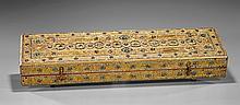 Southeast Asian Jeweled & Gilt Wood Box