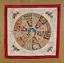 Antique Burmese Painted Yantra Mandala