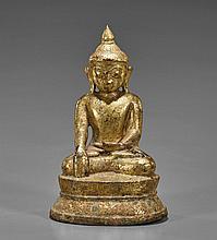Antique Southeast Asian Gilt Bronze Buddha