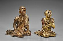 Two Antique Southeast Asian Wood Attendants
