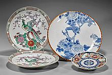 Group of Four Japanese Porcelain Dishes