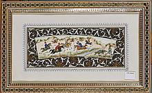 Antique Persian Painted Bone Miniature