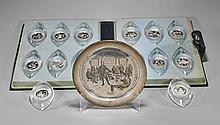 American Sterling Silver Dish & Medallion Set