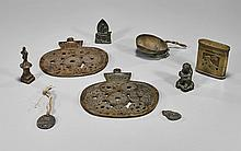Nine Chinese/Japanese Bronze Miniatures