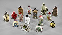 Collection of Fifteen Various Snuff Bottles