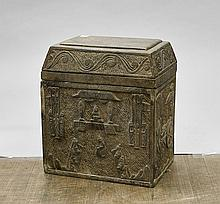 Chinese Carved Stone Ritual Box
