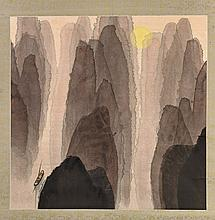 Three Scrolls: Abstract Landscapes