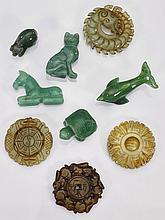 Nine Chinese Jade/Hardstone Carvings