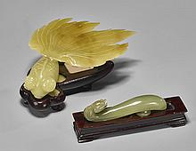 Two Chinese Carvings: Fish & Buckle