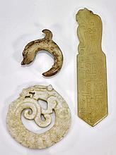 Three Chinese Archaistic Jades/Hardstones
