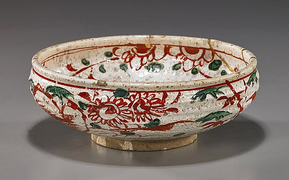 Early Japanese Glazed Ceramic Bowl