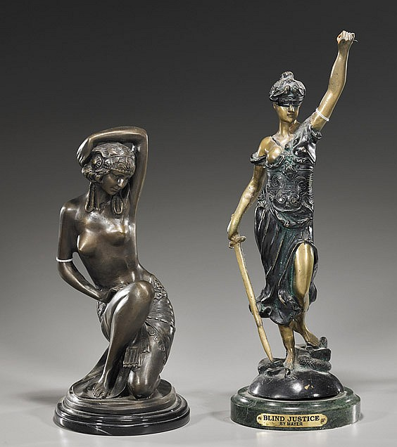 Two Various Bronze Female Figures
