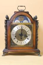 WEST GERMAN WALNUT MOON PHASE CLOCK