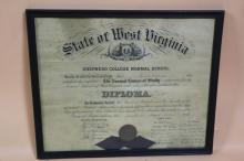 STATE OF WEST VIRGINIA DIPLOMA