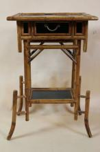 ENGLISH BAMBOO SIDE TABLE 20TH C.