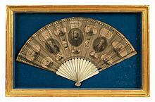 BATTLE OF CAMPERDOWN, A RARE COMMEMORATIVE FAN, 1798