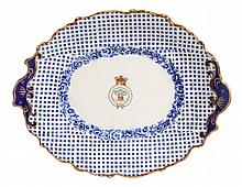 ROYAL YACHT SERVING PLATE OFF ROYAL GEORGE, 1817