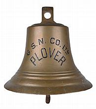 A SHIP'S BELL FROM THE GENERAL STEAM NAVIGATION COMPANY LTD CARGO SHIP PLOVER, 1936