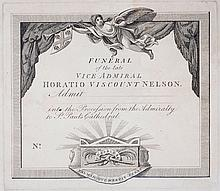 AN UNISSUED PROCESSION PASS FOR THE FUNERAL OF LORD NELSON