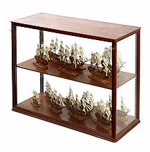 AN UNUSUAL COLLECTION OF BOXWOOD MODELS, PROBABLY FRENCH, EARLY 19TH-CENTURY