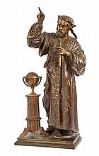 A LATE 19TH-CENTURY PATINATED BRASS FIGURE OF GALILEO