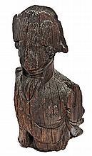 A BUST-LENGTH FIGUREHEAD OF JOHN JERVIS, EARL OF ST.VINCENT, CIRCA 1800