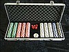 Cased set of poker chips