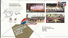Memories of London 2012 FDC neat typed address
