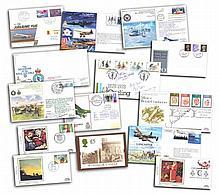 Assortment of First Day covers. 40+ covers included also included blue kestrel album with some sleeves. Mixture of FDCs included are The British Council 1934 1984 royal mail FDC, Christmas 1984 The Nativity FDC, plus some military and many more. Good