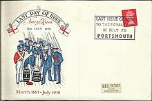 Navy Rum last day of issue 31/7/1970 FDC.  Good condition