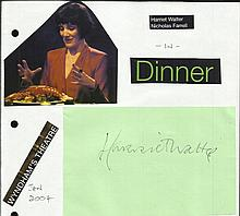 Harriet Walter signed large 6 x 4 card lightly