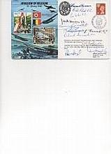 Invasion Of Belgium FDC Signed By 11  Victoria Cross Holders    -           Ervine-Andrews, Reid, Wilson, Hinton, Gould, Gardener, Kenna, Annand,   Burton,  Learoyd And Fraser.  Good Condition