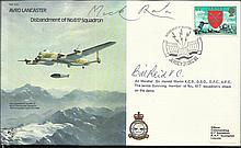 Dambusters 1981 RAF B30 Avro Lancaster cover, signed by two of the most famous pilots of the legendary squadron    -    Dambusters veteran AM Sir Harold