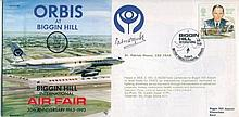 PATRICK MOORE    -    1993 Biggin Hill International Air Fair cover signed by Sir Patrick Moore. Good condition