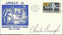Charles Conrad NASA Moonwalker signed Apollo 12 1969 FDC with Cape Canaveral CDS postmark. Good condition