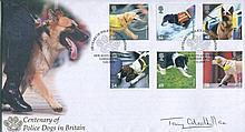 GEORGE CROSS    -    Buckingham 2008 Centenary of Police Dogs in Britain FDC signed by George Cross recipient Tony Gledhill GC. Good condition