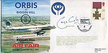 GEORGE COLE    -    1993 Biggin Hill International Air Fair cover signed by George Cole. Good condition