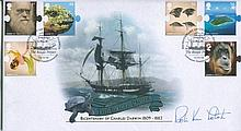 ROBIN KNOX-JOHNSTON    -    Buckingham covers Bicentenary Charles Darwin FDC signed by Sir Robin Knox-Johnston. Good condition