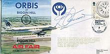 DES O'CONNOR    -    1993 Biggin Hill International Air Fair cover signed by Des O'Connor. Good condition