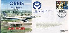 FRANK MUIR    -    1993 Biggin Hill International Air Fair cover signed by Frank Muir. Good condition