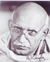 Sir Ben Kingsley. 10 x 8  picture in character as 'Gandhi.' Excellent Condition
