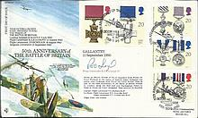 1990 50th Anniversary of the Battle of Britain cover, RFDC87 first day cover with the Gallantry stam